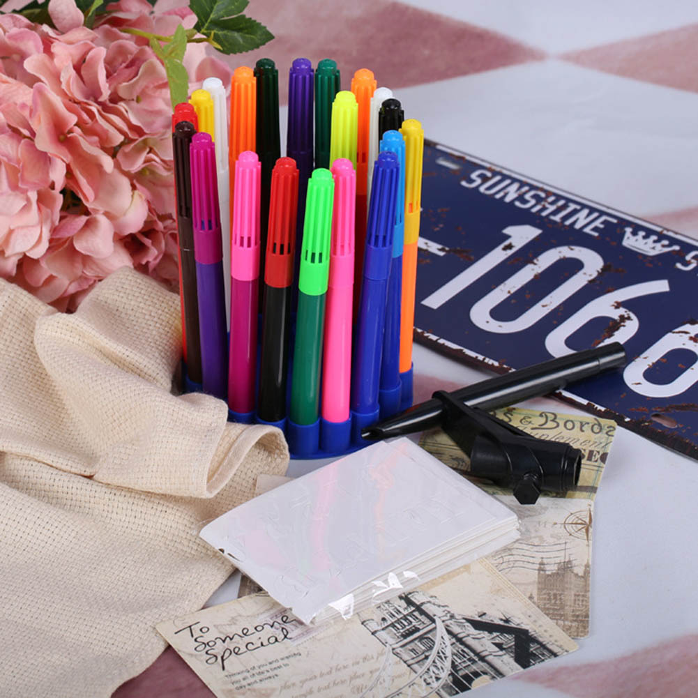 20pcs set magic eraser pen amazing color changing pens pens drawing set art markerhighlighters for school in highlighters from office school supplies on