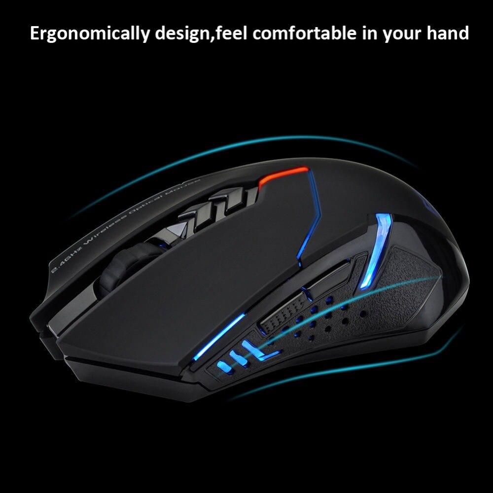NOVA X-08 ET Jogo Do Rato Sem Fio 2000 DPI Ajustável Mouses sem fio 2.4G Rato Para Profissional de Alta Qualidade