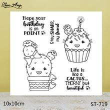 Exotic Cute Cactus Transparent Silicone Stamp / DIY Scrapbook Album Decoration Seal Seamless