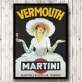 Винтажный стиль Vermouth Martini постер печать ретро настенное искусство на холсте печать напитков рекламная картина украшение бара
