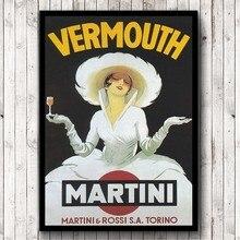Póster de Estilo Vintage Vermouth Martini, cuadro sobre lienzo para pared, Impresión de bebidas, anuncio, imagen de decoración de Bar