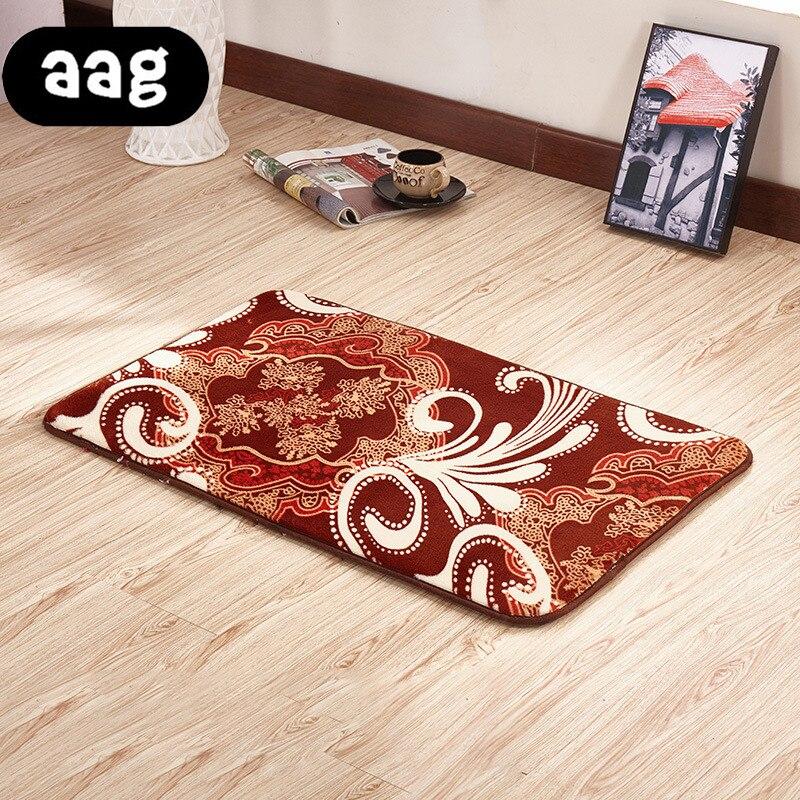 AAG Plant Flower Printing Floor Mats Thickened Anti-slip Doormat Carpet for living room  Kitchen Bathroom Restroom Entrance Rugs
