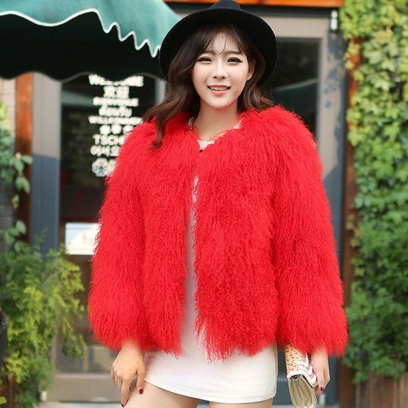 Nieuwe stijl vrouwelijke bont wollen kleding Mongolië schapen - Dameskleding