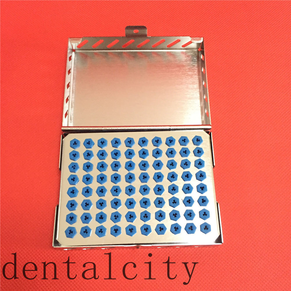 цена на Best Dental 80Holder Tray for Implant Drill Bur Stainless Case Sterilization