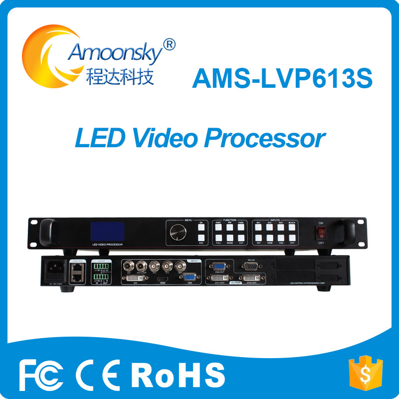 led wall screen switcher ams-lvp613s video display processor sdi support linsn ts802d for full color led moving screen