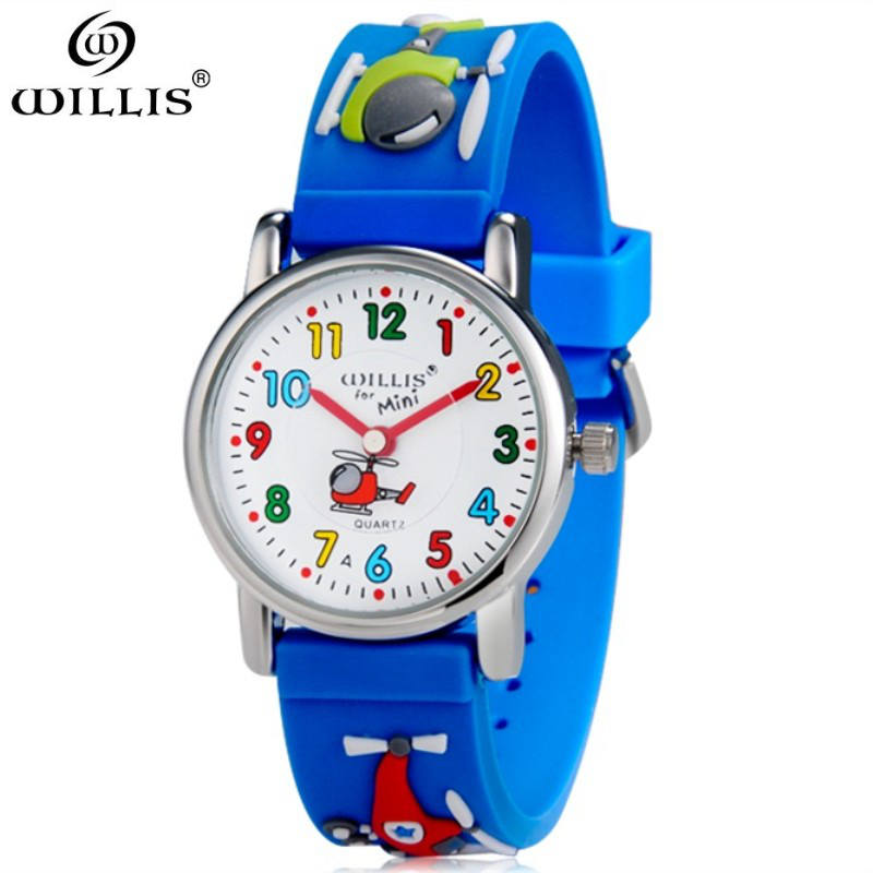 WILLIS Children 3D Watch Fashion Casual Watches Quartz Wristwatches Waterproof Jelly Kids Clock boys Hours girls Students watch fashion brand children quartz watch waterproof jelly kids watches for boys girls students cute wrist watches 2017 new clock kids