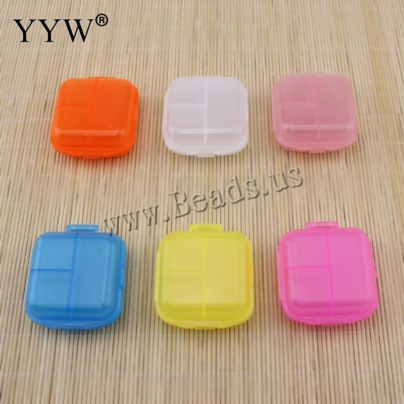 Free Shipping 2017 New Gift 1 PCs Folding Vitamin Medicine Candy Color Drug Pill Box Makeup Storage Case Container Box