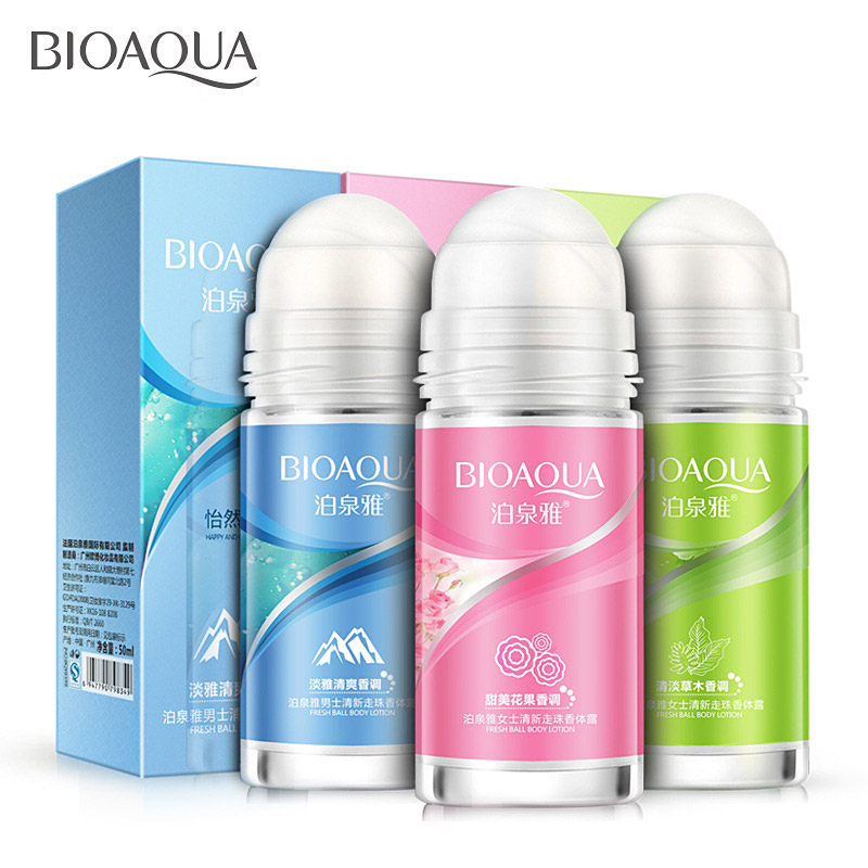 BIOAQUA Ball Body Lotion Antiperspirants Underarm Deodorant Roll On Bottle Women Fragrance Men Smooth Dry Perfumes