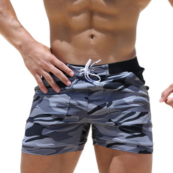 Men's Swimwear Swimsuit Spandex Beach Board Shorts
