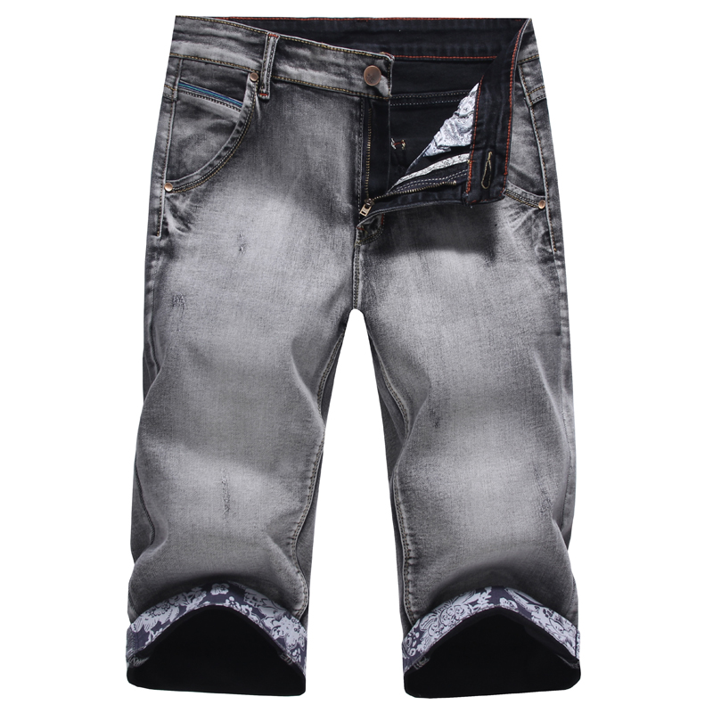 2016 New Arrival Fashion Mens Jeans Water-washed Straight denim shorts men Light Gray jeans shorts for men Wholesale