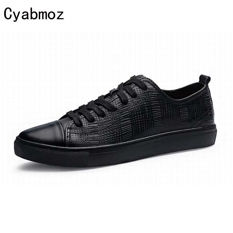 Большой Размер 38-46 47 Тиснением Обувь Из Натуральной Кожи Мужчины Квартиры Свободного Покроя Обувь Черный/Коричневый Мужской Хомбре Zapatillas Размер Сапато Mascul