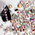 New Arrival 1440Pcs/Pack SS3 - SS20 Round AB Flactback Crystal Rhinestone DIY Nail Art Decor