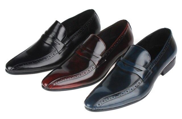 Mocasines Vino Moda Mens Oscuronegro Zapatos Rojoazul Pisos Vestir De AIrwrqTdx