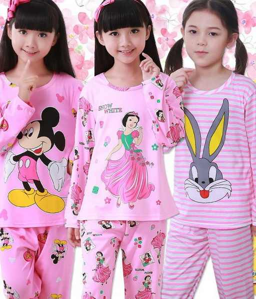 Children Pajamas New Sale Autumn&Winter Baby Sleepwears Suits Lovely Girls Pyjamas boys Cartoon Pijamas Kids Clothing set YW356