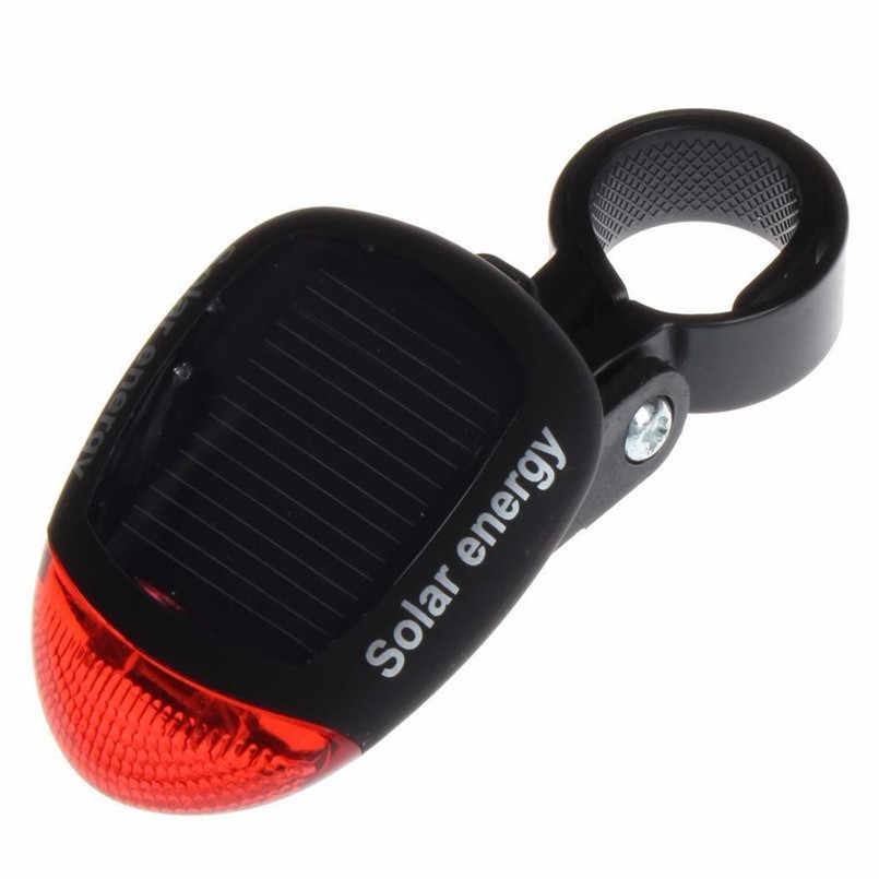 Luz trasera LED intermitente trasero alimentada por energía Solar para bicicleta lámpara de advertencia de seguridad luces de bicicleta