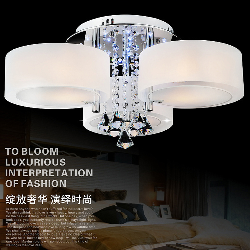modern Crystal Led Ceiling Lights home design kitchen living room bedroom lamp luminaria de teto acrylic foyer lighting fixture crystal modern led ceiling lights for living room bedroom kitchen lustre lamparas de techo avize crystal ceiling lamp fixtures