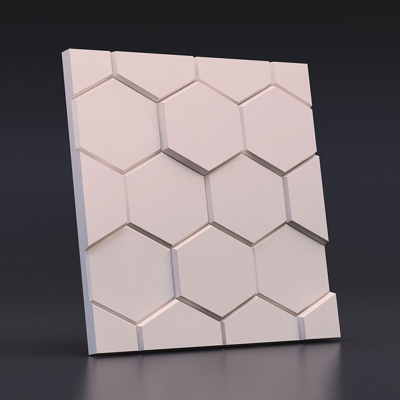 Geometric silicone concrete brick molds silicone mold for Plaster 3D Decorative Wall Panels wall stone molds 28*2cm