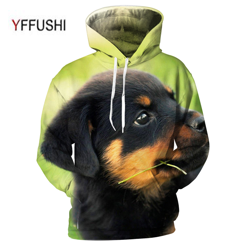 YFFUSHI 2018 Casual Men Women 3D Hooded Pullovers Fashion Cute animal 3d Sweatshirts Funny 3D Dog Print Outwear Plus Size 5XL
