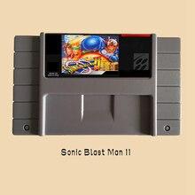 Sonic Blast Man II 16 bit Big Gray Game Card For NTSC Game Player Drop Shipping