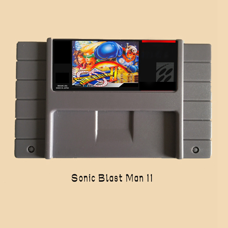Sonic Blast Man II 16 bit Big Gray Game Card For NTSC Game Player Drop Shipping