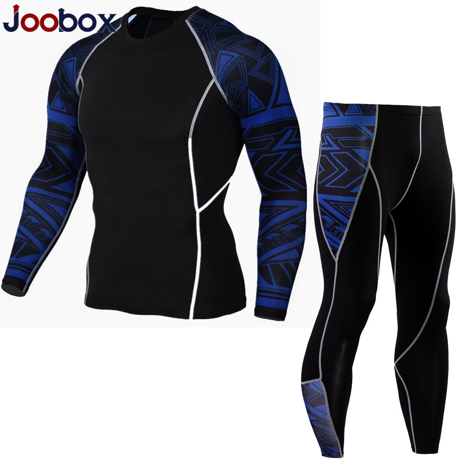 European Size New Thermal Underwear Men's Underwear Sets Compression Fleece Sweat Quick-drying Thermal Underwear Men's Clothing