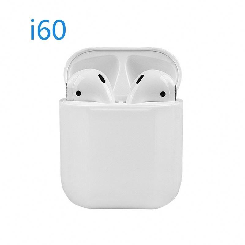 I60 TWS Pop-up Qi sans fil charge écouteur véritable son stéréo BT 5.0 1:1 taille écouteurs pour iPhone et android téléphone intelligent