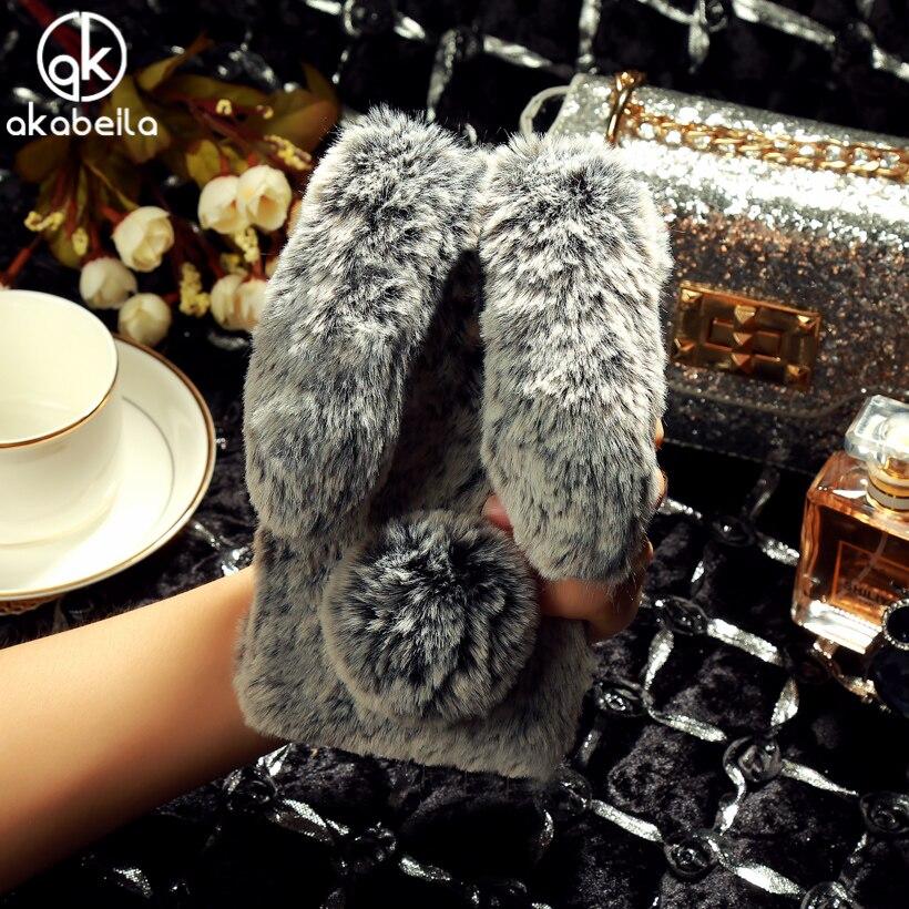 AKABEILA lindo conejo piel suave casos para LG X Power caso silicona Coque Funda para LG X Power Cover F750 k210 K450 K220 5,3 pulgadas
