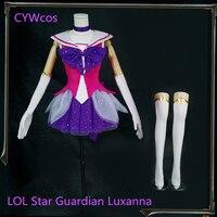 LOL Game Косплэй звезда маг Леди светимости Luxanna Косплэй костюм рождественские костюмы LUX Косплэй женское платье