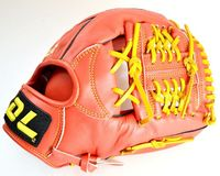 Hot sale!Red color DL 12Inch Top quality cowhide baseball gloves softball infielder gloves,Free shipping!