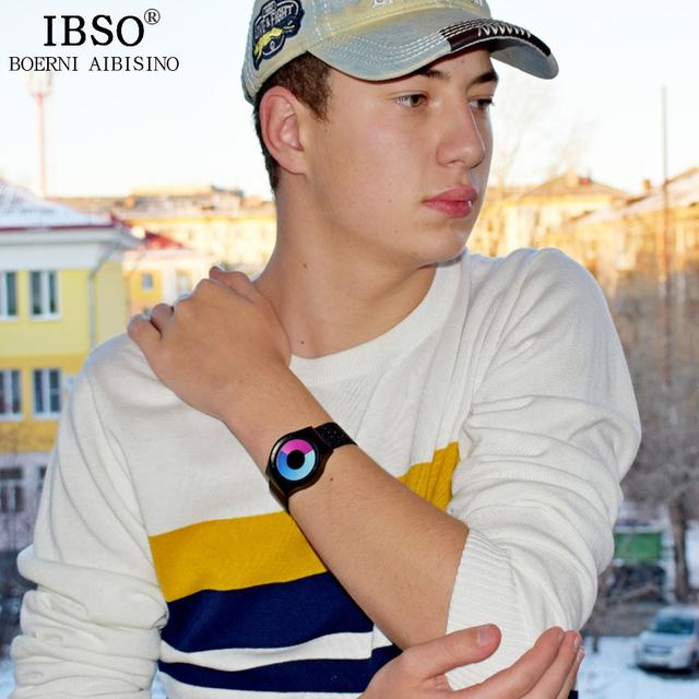 IBSO Creative Men Watches Top Brand Luxury Stainless Steel Watches Mens Sports Quartz Watch Relogio Masculino 2019 Male Clock