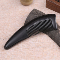 Handmade heishui horn comb natural thickening water horn comb germinative curly hair comb straight comb