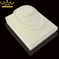 Newest Jewelry Display Necklace Pendants Beige Mannequin Necklace Holder Beige Velvet Jewelry Show