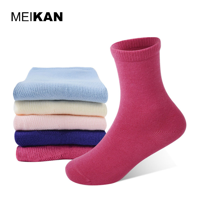 Children's Cotton Socks Cute Colorful Cycling Warm Kids Calzini Solid Ankle Baby Dress Socks High Quality Brand Pilates Socks