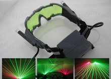 HOT SALE! New Party Laser Glasses for pub club DJ shows with 1 red laser and 1 green laser free shipping free shipping original for hp6014 6015 6040 6030 laser scanner assembly q3931 67907 q3938 67978 laser head on sale