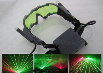 цена на HOT SALE! New Party Laser Glasses for pub club DJ shows with 1 red laser and 1 green laser free shipping