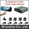 5 cameras CAR DVR kit, used for private car, taxi, driving school cars, inside recording and auto switch to rear view camera