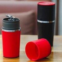 Ewold Manual Coffee Maker Hand Pressure Portable Espresso Machine Coffee Pressing Bottle Pot Coffee Tool For