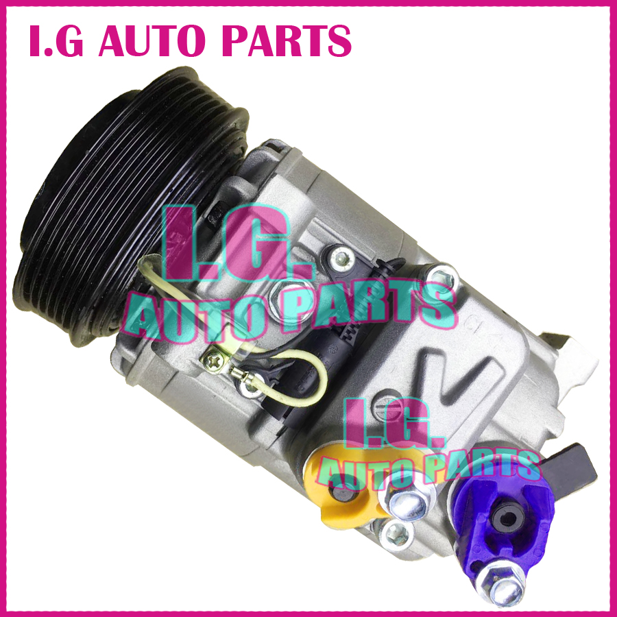 high quality air conditioner compressor for car land rover 6 grooves 12 volt