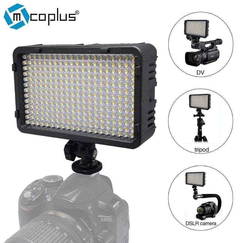 Mcoplus 198 LED Video Foto Licht Beleuchtung Lampe für DV camcorder & canon nikon pentax sony panasonic olympus digital slr kameras
