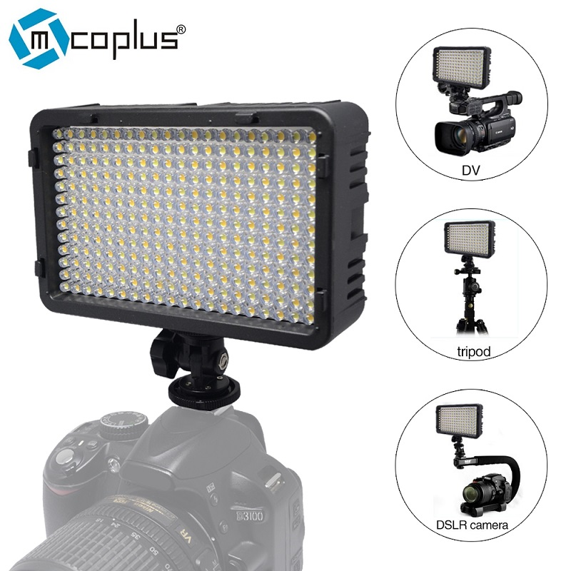 Mcoplus 198 LED Video Fotografische Verlichtingslamp voor DV-camcorder & Canon Nikon Pentax Sony Panasonic Olympus digitale SLR-camera