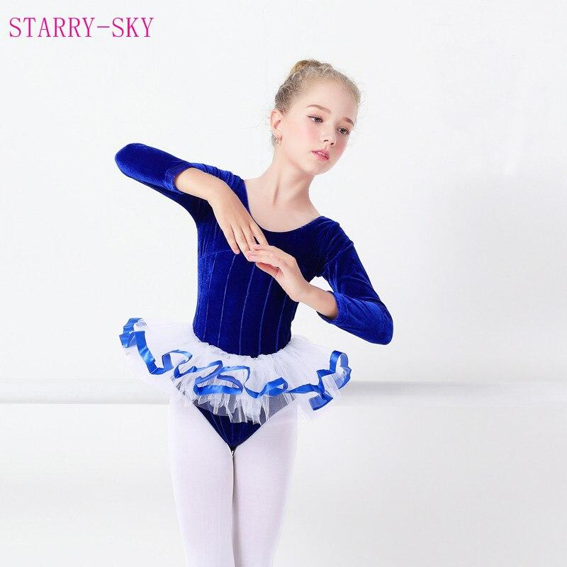 22a7ea47b Children Dance Clothing Autumn Winter Long Sleeved Velvet Warm ...