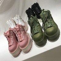 Hot Autumn Winter Shoes Woman Flat Platform Sneakers Lace Up Design Woman Athleisure Shoes Chic Punk Woman Shoes Superstar F