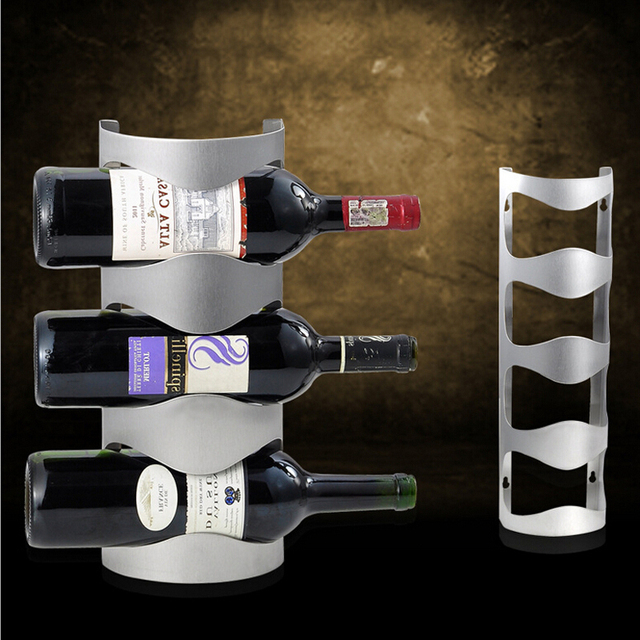 Us 2999 High Quality Stainless Steel Wine Rack Wall Mounted 3 Bottle Fashion Bar Red Wine Holder Hang A Wall In Wine Racks From Home Garden On