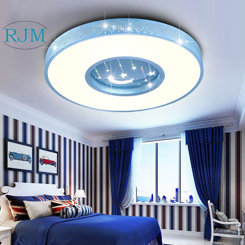 Simple Modern Children S Room Lights Boys And Cartoon Super Thin Led Ceiling Lamp Star Bedroom Warm Lamps