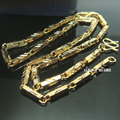 n298-50cm Length18K Gold Filled Cool Curb Cuban Link Chain Men Necklace 4.5mm