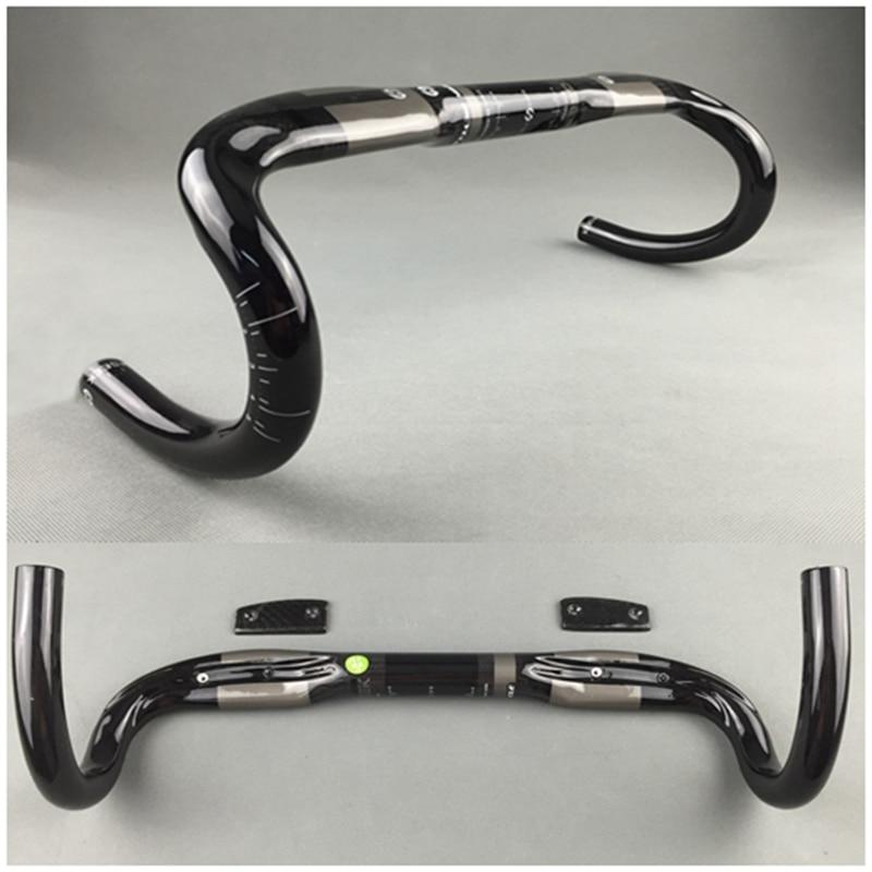 TOSEEK full carbon fiber handlebar bicycle handlebar external routing road Highway Bike Bent Bar 400 420