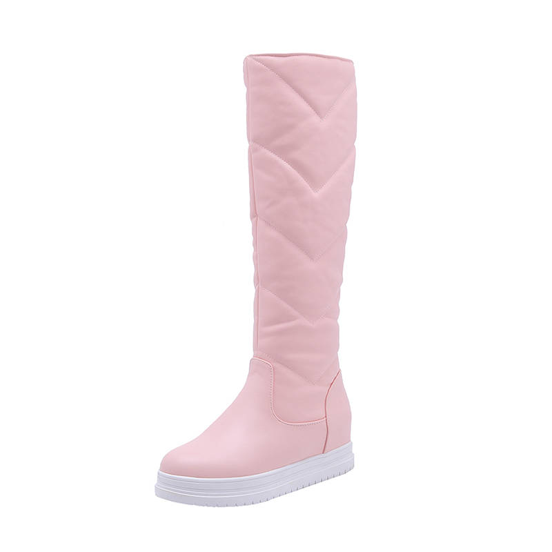 Image 3 - MORAZORA 2020 newest keep warm winter snow boots women waterproof slip on simple platform shoes comfortable knee high boots-in Knee-High Boots from Shoes