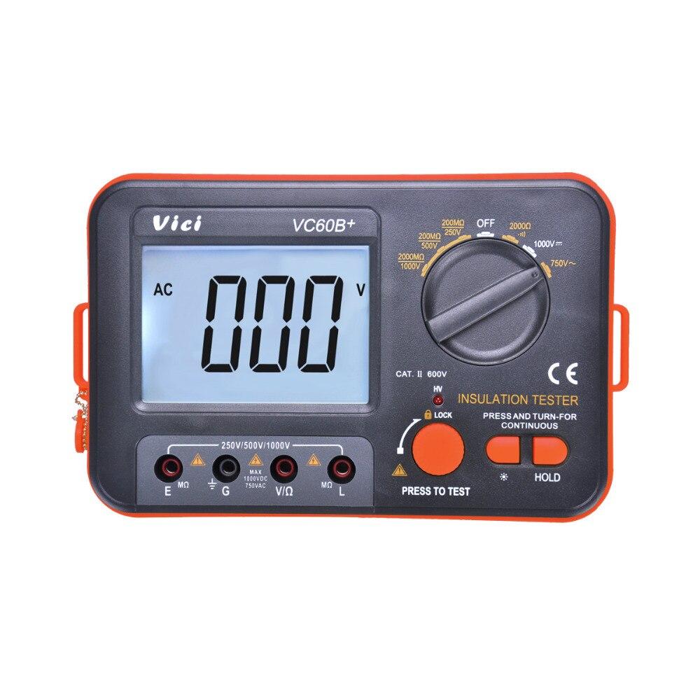 M004 VC60B+ Digital Megger MegOhm Meter Insulation Tester DCV ACV resistance FREE SHIPPING