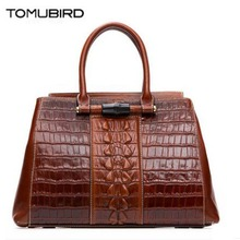 TOMUBIRD new Superior cowhide leather Embossed Crocodile famous brand women bag fashion genuine leather handbags Tote Boston bag