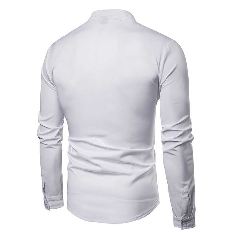 Luxury Gold Embroidery White Shirt Men New Spring Casual Shiny Gold Sequins Camisa Social Long Sleeve Dress Shirts Chemise Homme